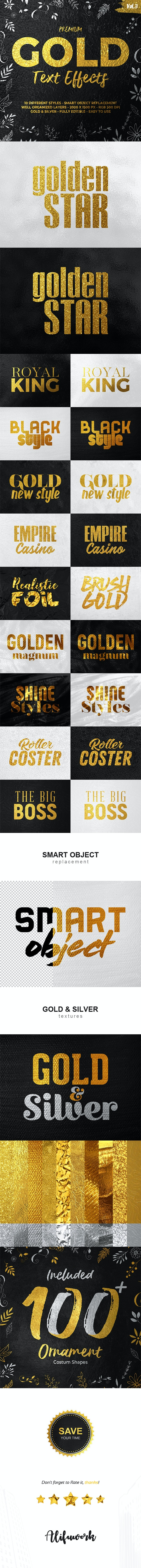 Gold Text Effects - Text Effects Styles