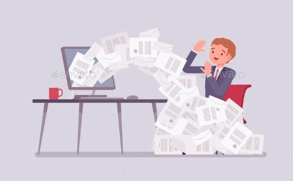 Paper Avalanche for Businessman - Concepts Business