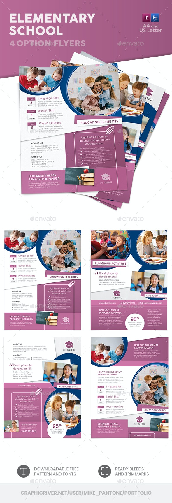 Elementary School Flyers – 4 Options - Corporate Flyers