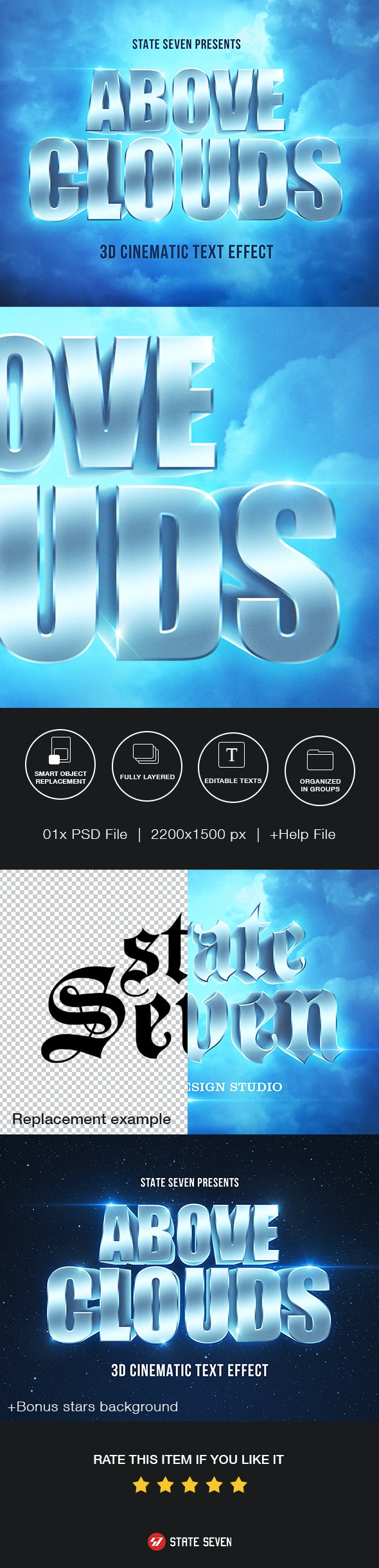 Cinematic 3D Text Effect - Text Effects Actions