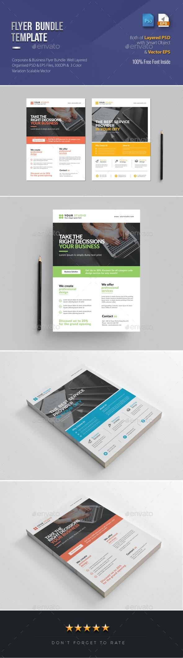 Business Flyer Bundle 2 in 1 - Corporate Flyers