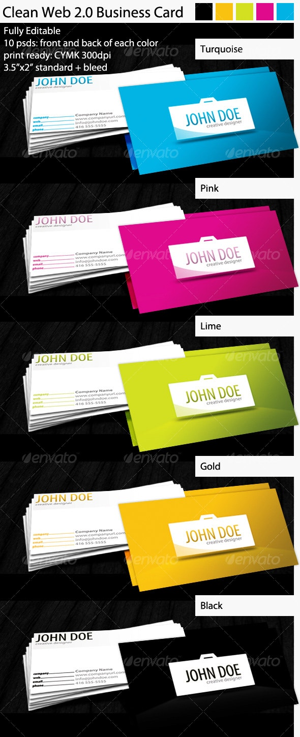 Clean Web 2.0 Business Card - Creative Business Cards
