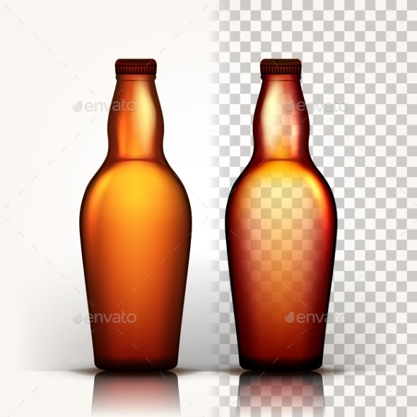 Beer Bottle Vector - Food Objects