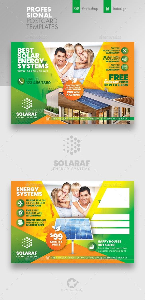 Solar Energy Postcard Templates - Cards & Invites Print Templates