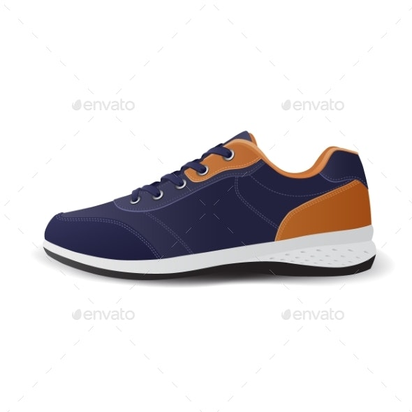 Realistic Sport Running Shoe for Training - Sports/Activity Conceptual