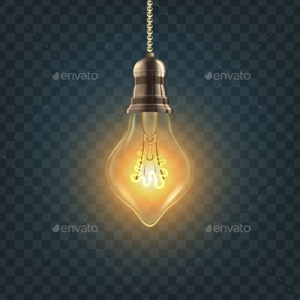 Steampunk Style Light Bulb - Man-made Objects Objects