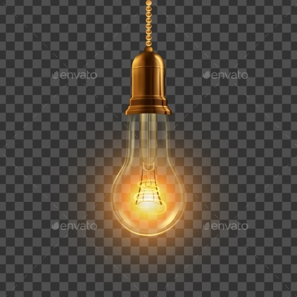 Hanging Decorative Light Bulb - Miscellaneous Vectors