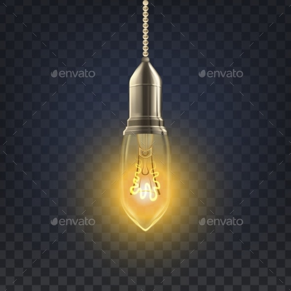 Light Bulb Vector - Man-made Objects Objects