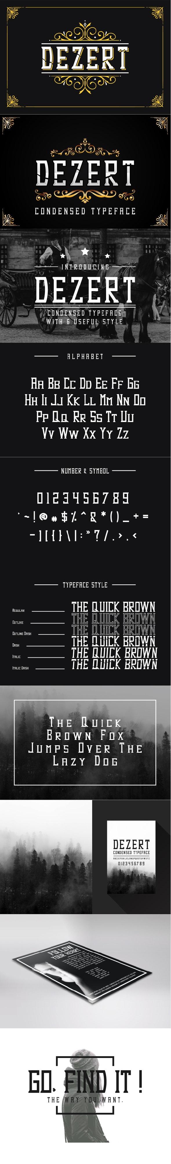 Dezert - Serif Blackletter Font - Old English Decorative