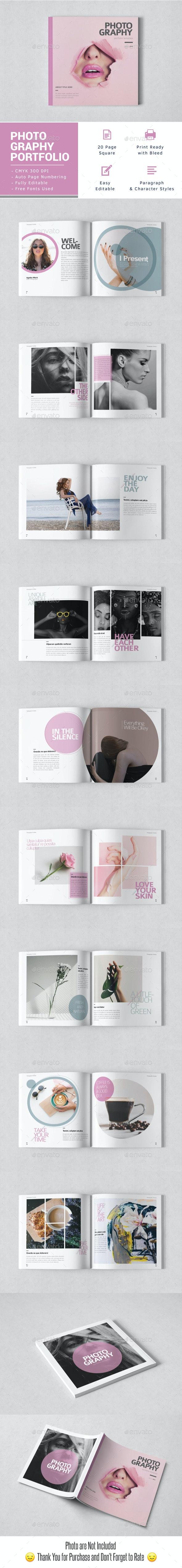 Photography Portfolio Square Template - Portfolio Brochures