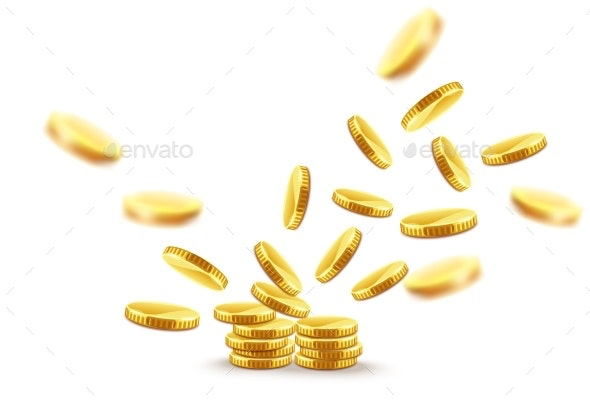 Gold Coins Explosion - Man-made Objects Objects