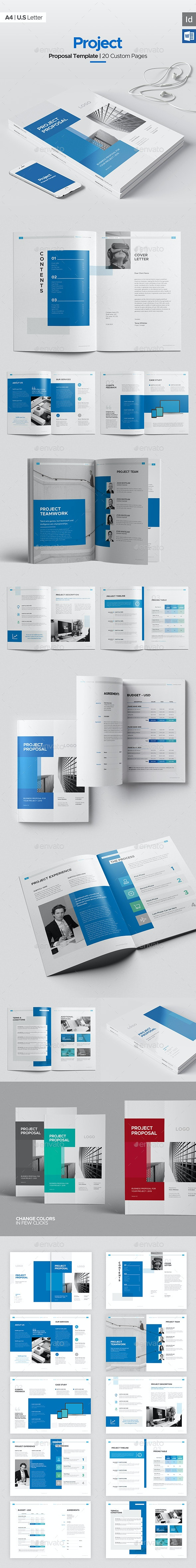 Project Proposal 20 Pages, Word Proposal - Corporate Brochures