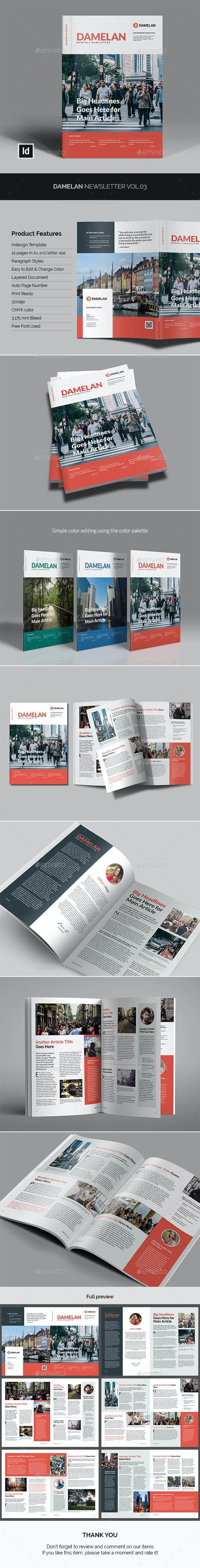 Damelan Newsletter Vol.03 - Newsletters Print Templates