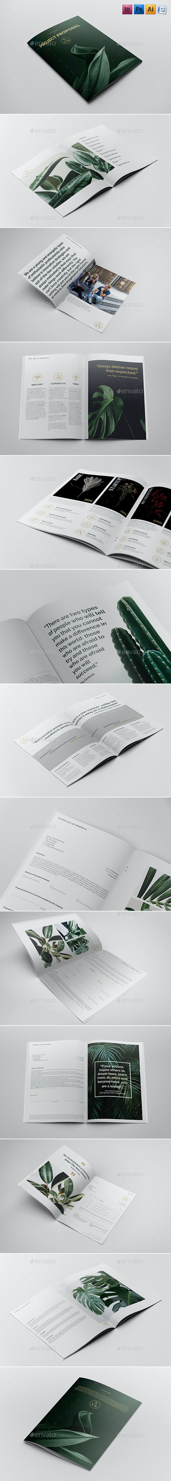 Project Proposal Contract & Invoice - Brochures Print Templates