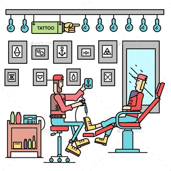 The Artist Offers the Option of a Tattoo - Industries Business
