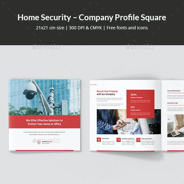 Home Security – Company Profile Square