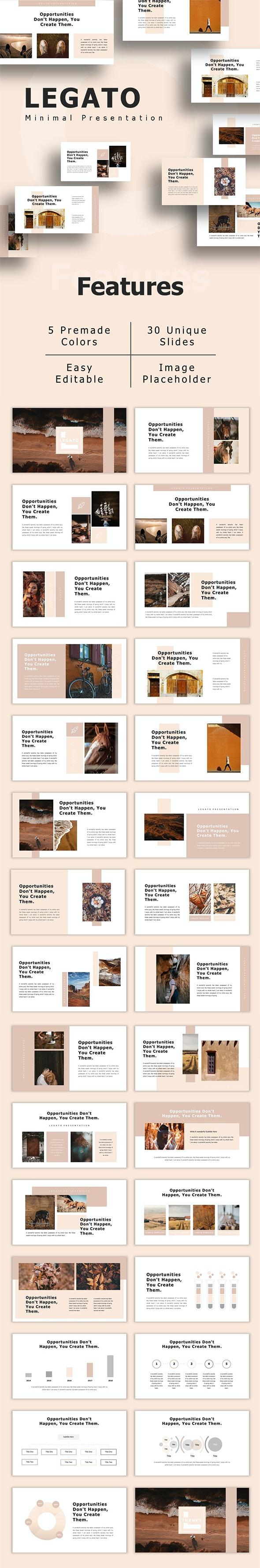 Legato - Creative Presentation PowerPoint Template - Creative PowerPoint Templates