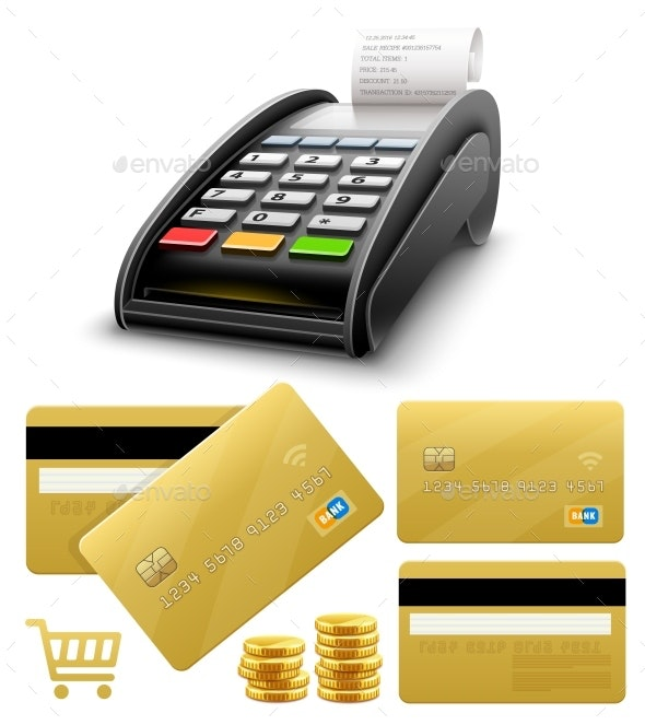 Bank Terminal for Payments by Card Processing - Concepts Business