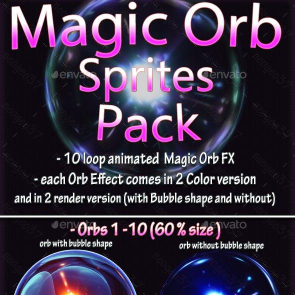 Magic Particle Orb Sprites