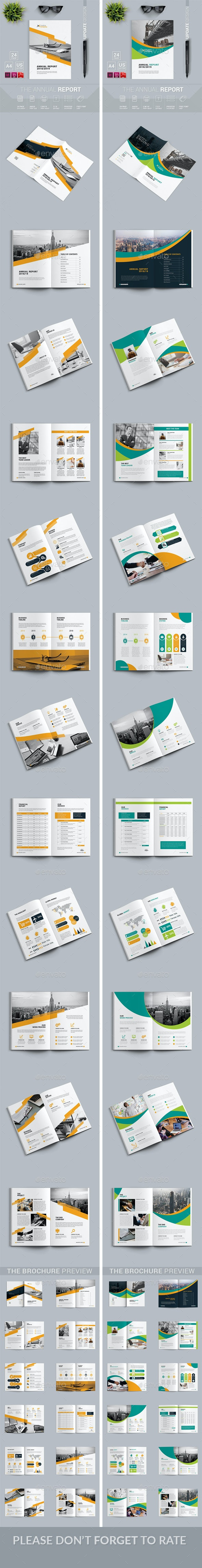 Annual Report Bundle 2 in 1 - Magazines Print Templates