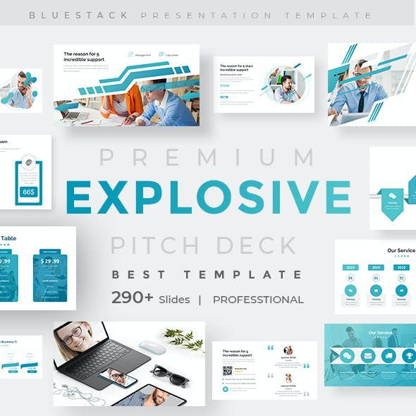 Explosive Business Pitch Deck Keynote Template