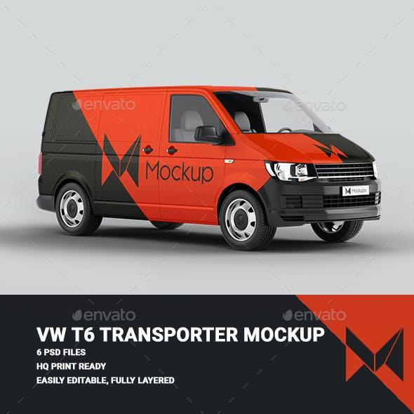 VW T6 Van Transporter Mockup