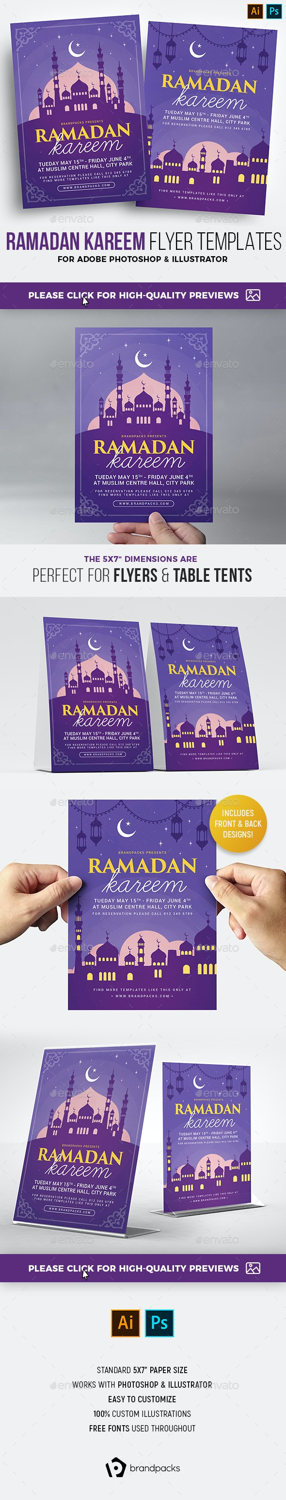 Ramadan Kareem Flyer Templates - Holidays Events