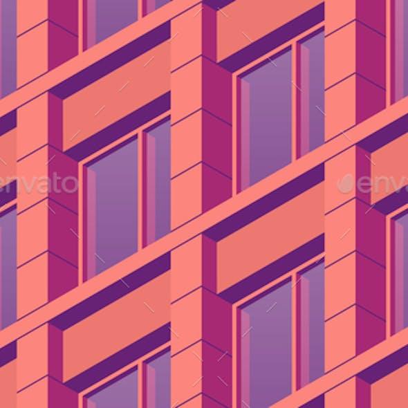 Isometric Building Facade Illustration