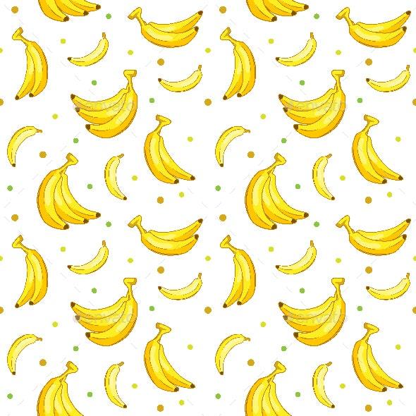 Sweet Banana Seamless Pattern - Patterns Decorative