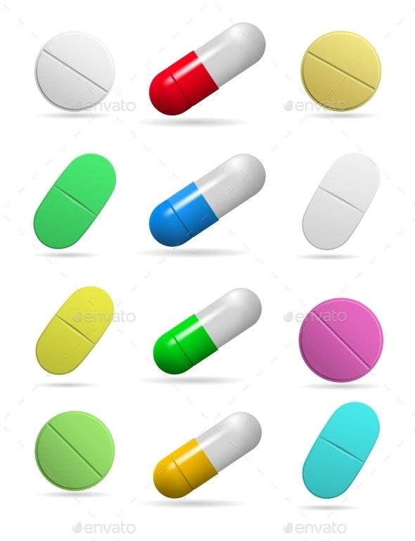 Medicinal Tablets - Health/Medicine Conceptual