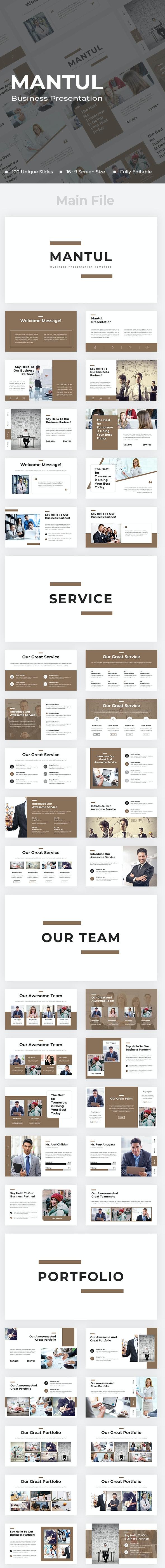 Mantul Business Google Slides - Google Slides Presentation Templates