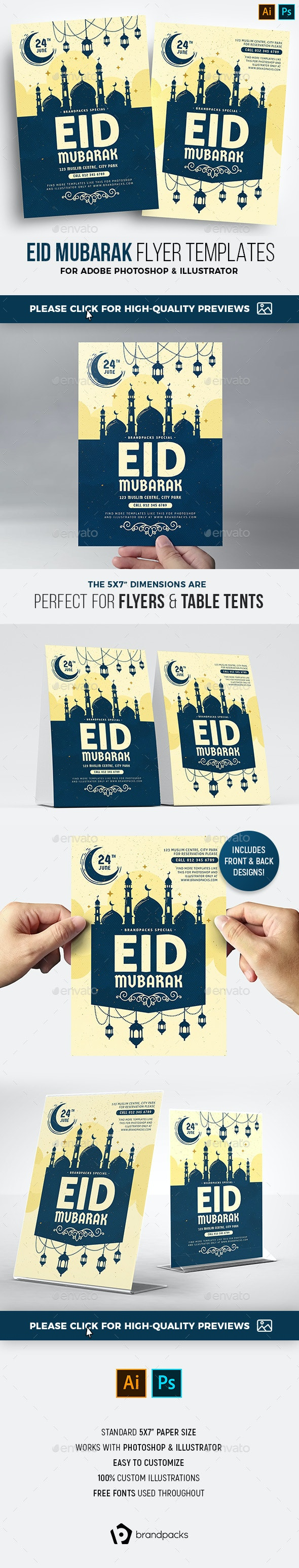 Eid Flyer Template - Holidays Events