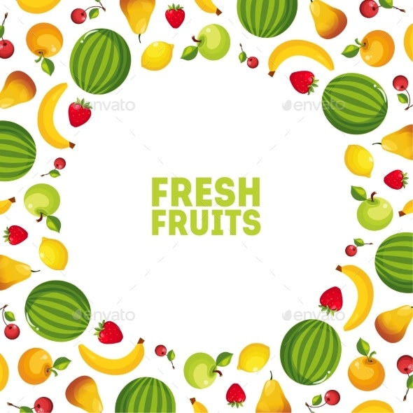 Colorful Fresh Vegetables and Fruits Banner - Food Objects