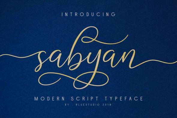 sabyan - Script Fonts