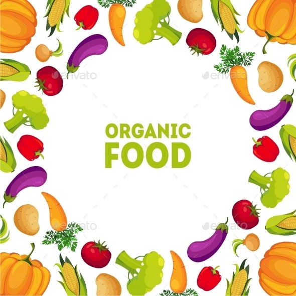 Organic Food Farm Fresh Colorful Vegetables - Food Objects