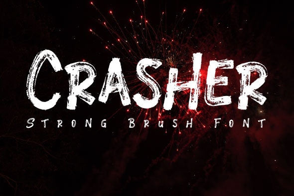 Crasher / Brush Font - Decorative Fonts