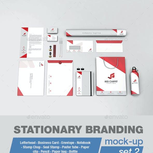 Stationery Branding Mock-ups Set 2
