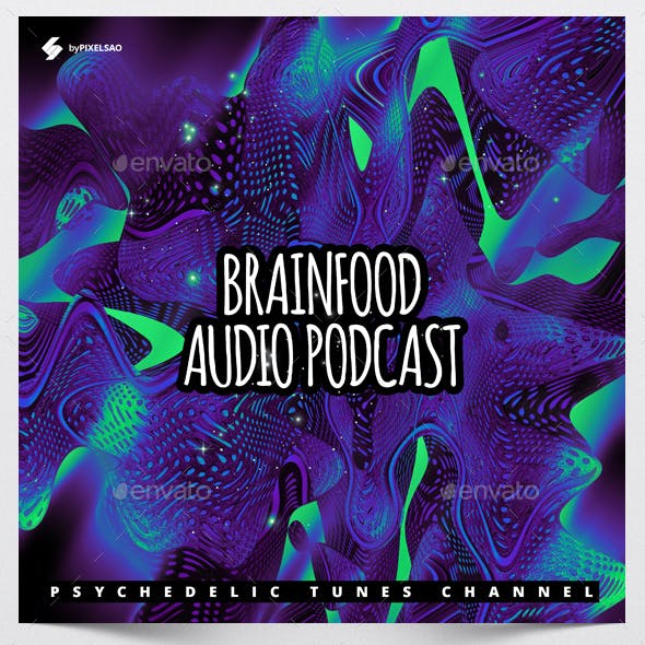 Brainfood - Audio Podcast Cover Design Template