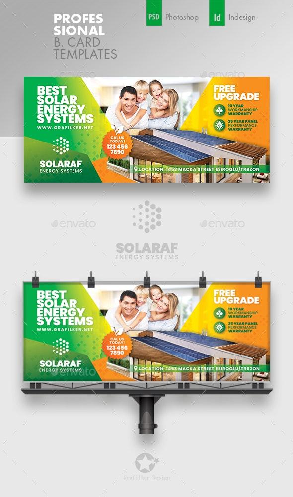 Solar Energy Billboard Templates - Signage Print Templates