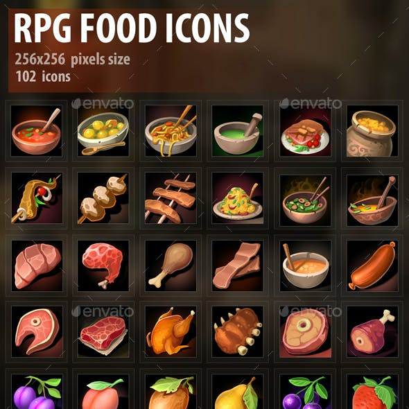 RPG Food Icons