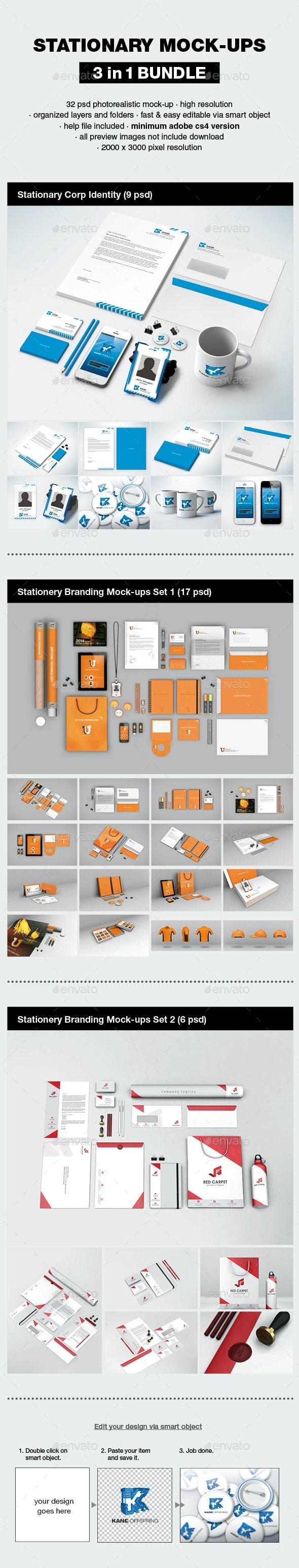 Stationery Branding Mock-up Bundle - Stationery Print