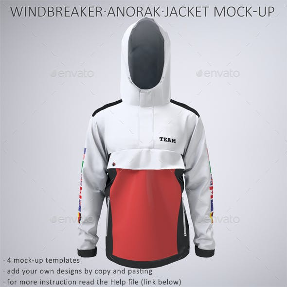 Anorak Windbreaker Nautical or Sailing Jacket Mock-Up
