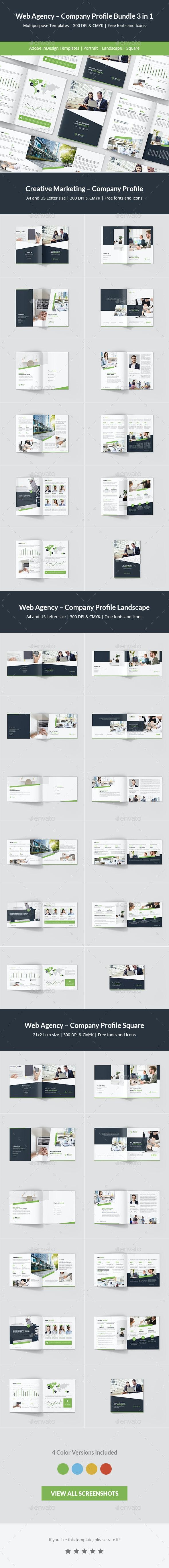 Web Agency – Company Profile Bundle 3 in 1 - Corporate Brochures