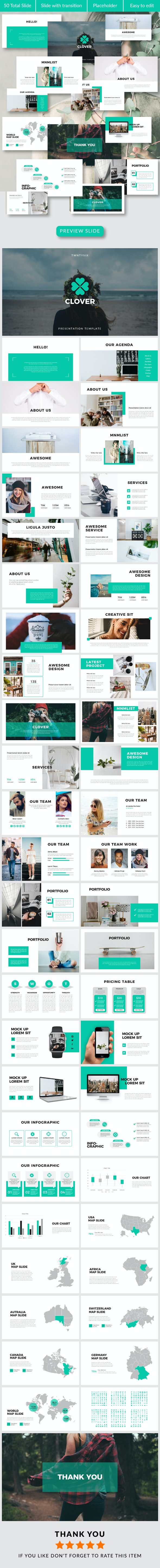 Clover PowerPoint Temp - Creative PowerPoint Templates