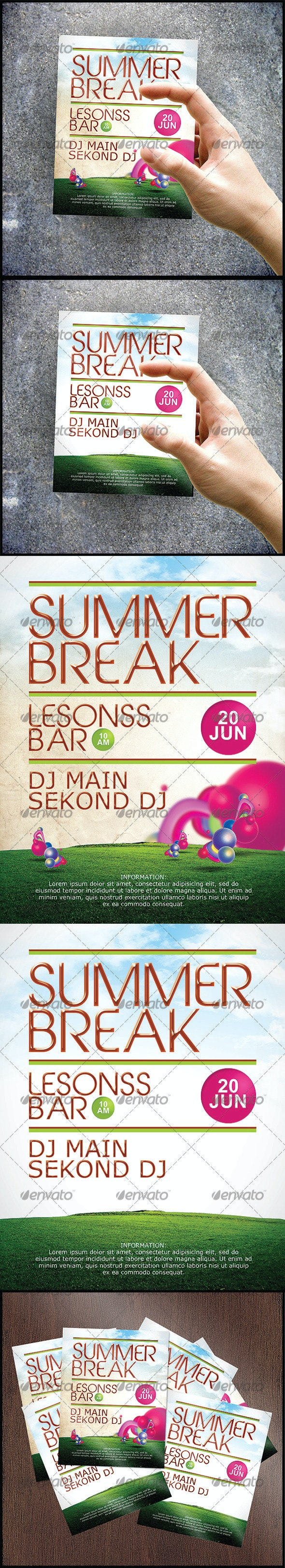 Fresh Summer Party Flyer Template - Clubs & Parties Events