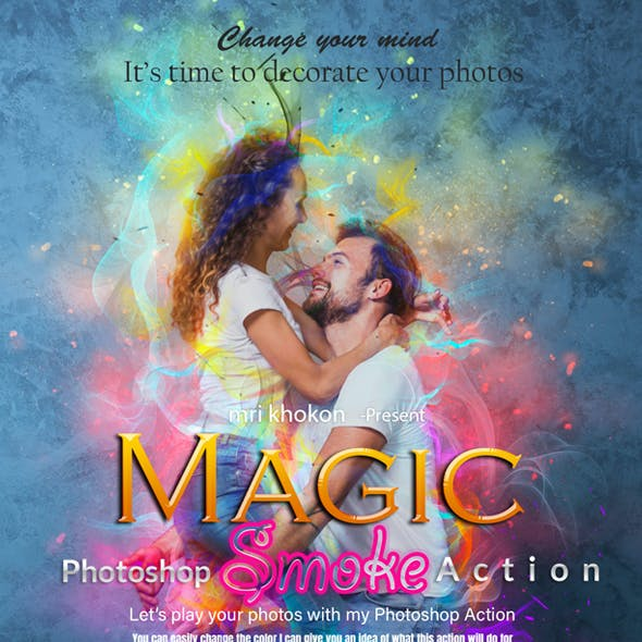 Magic Smoke Photoshop Action