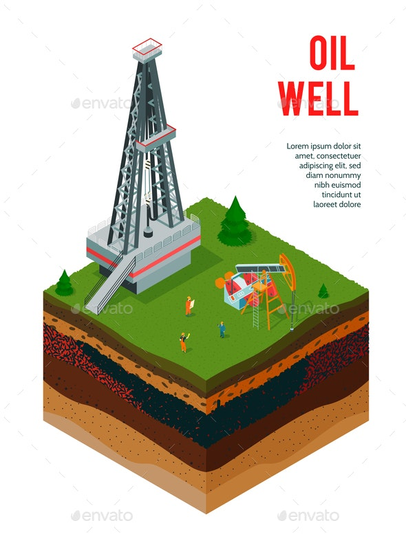 Oil Well Profile Background - Industries Business