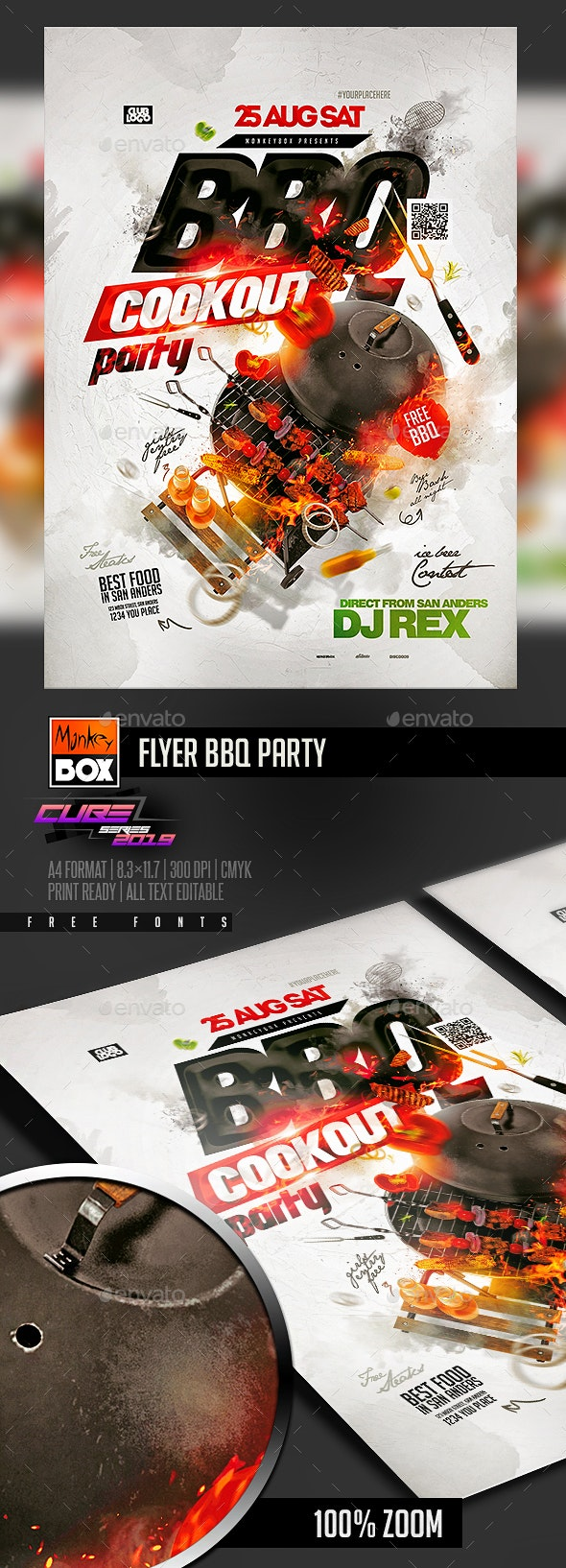 Flyer BBQ Party - Clubs & Parties Events