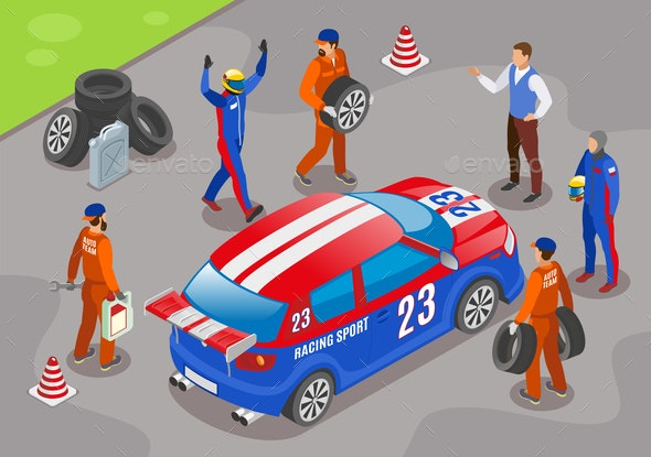 Racing Sports Background - Sports/Activity Conceptual