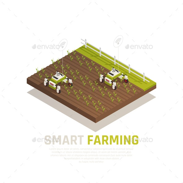 Smart Agriculture Concept - Food Objects